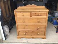 Large Quality Pine Chest of Drawers