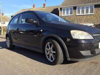 FIRST CAR for new drivers. BLACK Vauxhall Corsa Turbo 1.3