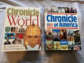 Chronicle of the World and Chronicle of America books