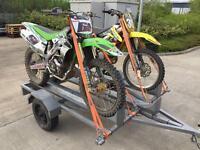 3 bike trailer, motocross, motorbike, mx