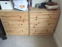 2 wide drawers! Perfect set for any bedroom, goes anywhere!