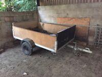 Galvanised car trailer