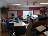Office Space for rent - to suit small business - 2 rooms (large open plan+smaller rm) + WC/kitchen