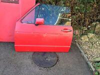 VW Mk1 Golf cabriolet doors red