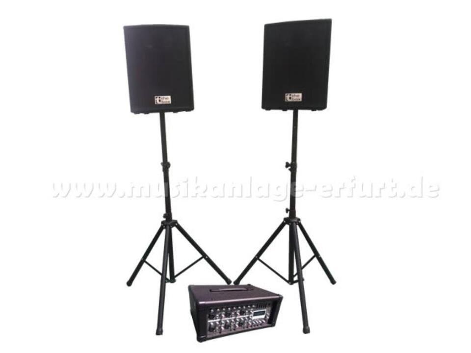 mieten PA-Anlage Musikanlage DJ Lautsprecher-Boxen ausleihen in Erfurt