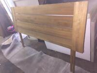 Solid Oak headboard
