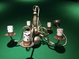 2 brass ceiling candle lights