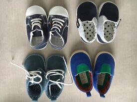 Bundle of boys 3-6 month shoes
