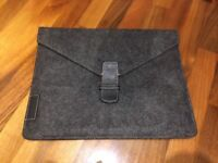 Grey Leather Case Bag or Sleeve for iPad Air 2