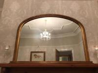 John Lewis Overmantel Mirror - Gold