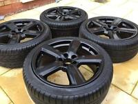 """18"""" Audi RS6 Style A3 A4 A6 S-Line Alloy wheels & Tyres Golf MK5 Caddy"""
