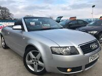 2004 54 Audi A4 1.8T Convertible/ Cabriolet - 83k Miles - S/H - Excellent Condition - FREE WARRANTY