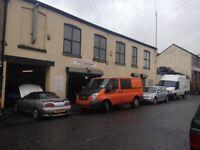 Garage workshop industrial unit to let stockport