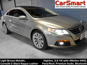 2011 Volkswagen CC Highline V6 AWD, Pana-Roof, Leather, Bluetoot