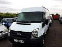 2012 FORD TRANSIT 350L LONG WHEELBASE ONE OWNER FROM NEW FULL SERVICE HISTORY TOW BAR PLYLINED