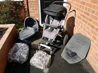 Quinny Buzz with extra insert, carry cot and choice of front wheels