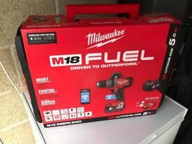 Milwaukee M18 Percussion Drill& 2x 5Ah batteries