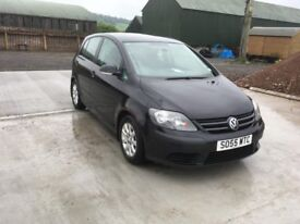 VW GOLF PLUS (2005) 55 PLATE. 1.9 TDI IN METALLIC BLACK WITH ALLOYS.