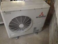 Mitsubishi R410A Air Conditioning unit with cable
