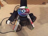 Xbox 360 plus 6 games