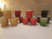 Lovely vibrant espresso cups from Le Creuset. .. Hardly used so brilliant cond