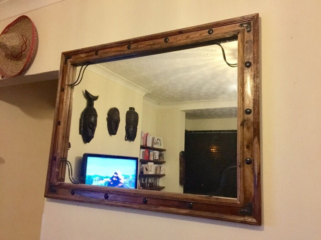 Sheesham Indian Solid Rosewood mirror