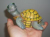 Turtle bubble ornament with air pump for aquarium fish tank