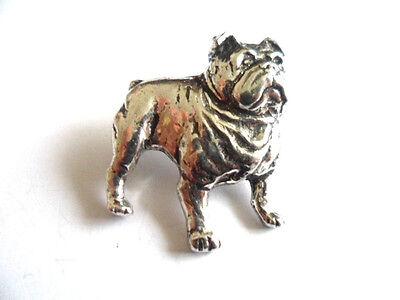 Bulldog,  English Pewter  Pin Brooch / Badge