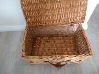 Medium wicked basket for sale