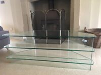 Greenapple glass TV stand