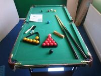 """POOL/SNOOKER TABLE 5' 5"""""""