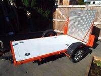 MOTORBIKE TRAILER HEAVY DUTY WITH LIGHTS ~ SWOP FOR LARGE BOX TRAILER OR OLD MOTORBIKE