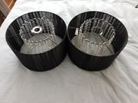 Pair black ribbon & droplet light shades