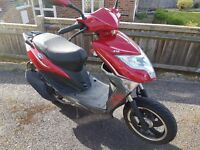 Lexmoto 50 moped for sale. Low mileage, garaged since new and regularly serviced