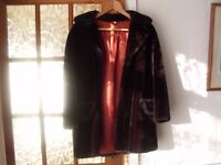 LADIES THREE GUARTER FUR COAT