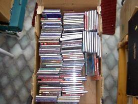 BOX OF 130 CD ALBUMS & 30 CD SINGLES