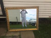 Stunning large feature mirror 53 x 42 inch