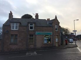 Three bedrooms self contained first floor flat , In the centre of the village of Torphins