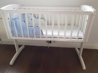 Mothercare Crib with mattresses and cover