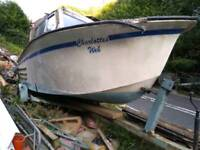 21 foot fibreglass Hull boat project and trailer