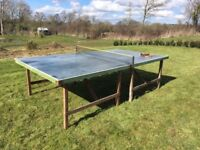 A charming vintage table tennis table in full working order