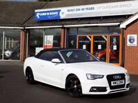 AUDI A5 2.0 TDi S LINE 2dr Convertible (177) ** Heated Leather + Cruise ** (white) 2012