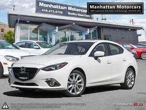 2014 MAZDA 3 GT-SKY AUTO |1OWNER|WARRANTY|CAMERA|NAV|HEADSUP|ROO
