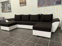 Corner U shape corner sofa bed