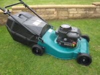 Sovereign Petrol Lawn Mower With Briggs 450 Series Fully Serviced Engine 46cm Cutting Width
