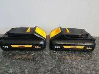 DeWALT DCB187 18V XR Li-ion 2x 3ah batteries (NEW SLIM VERSIONS)__________Makita bosch hitachi hilti