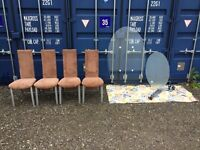 Bargain Lovely Glass Table And 4 chairs, V.G.C. Fast Free Delivery In Norwich,