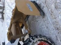 3 point hitch snow pusher/ skidsteer