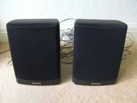 Panasonic Rear Surround Speakers X2 Black with large amount of lead