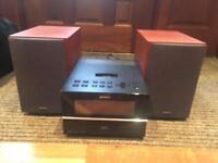 Sony mini hifi system with old iPod dock